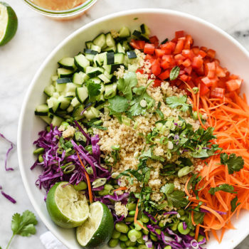 Thai Quinoa Power Salad | foodiecrush.com