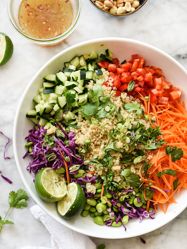 Thai Quinoa Salad Recipe Healthy So Easy Foodiecrush Com