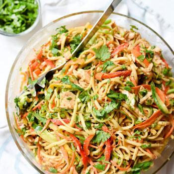 Peanut Noodles With Chicken foodiecrush.com