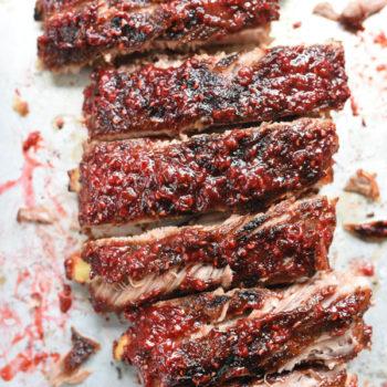 Raspberry Chipotle BBQ Ribs foodiecrush.com