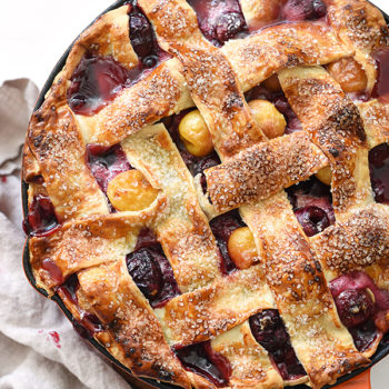 Skillet Cherry Pie foodiecrush.com