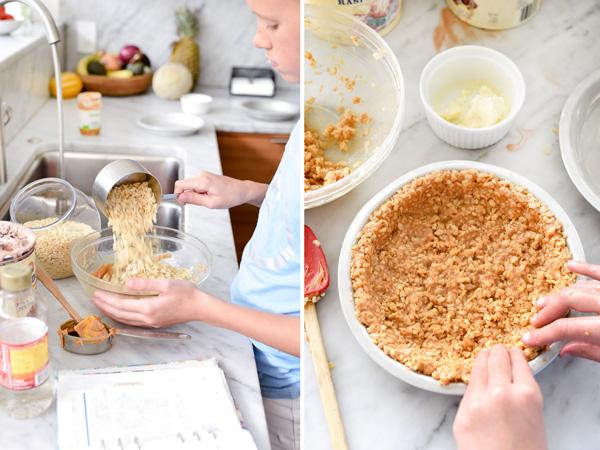 4 Ingredient Ice Cream Pie with Peanut Butter Krispie Crust   foodiecrush.com