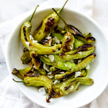 Blistered Shisito Peppers foodiecrush.com