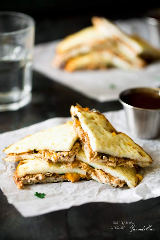 Healthy BBQ Chicken Quesadilla from Food Faith Fitness | foodiecrush.com