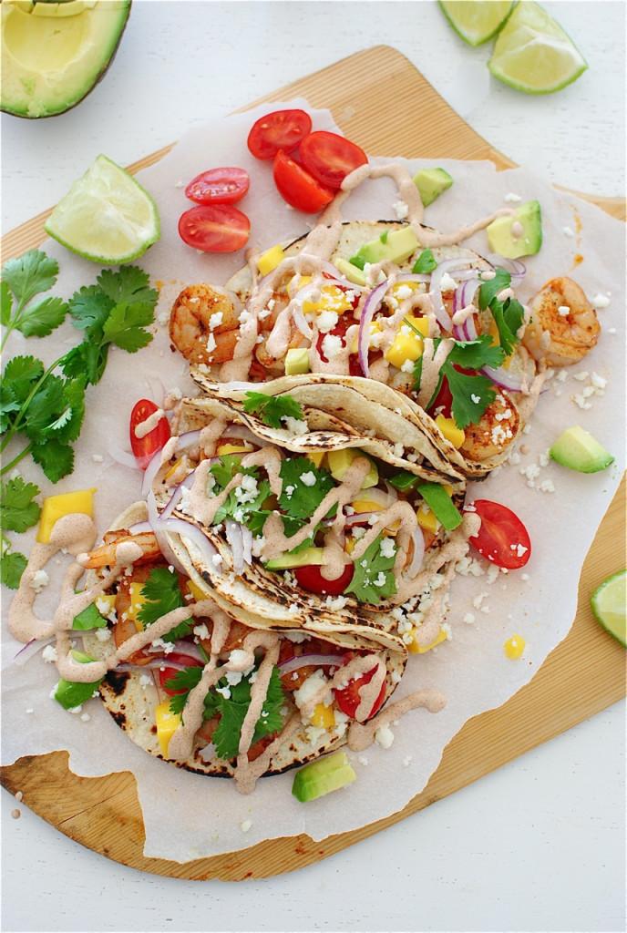Ancho Shrimp Tacos, bevcooks.com