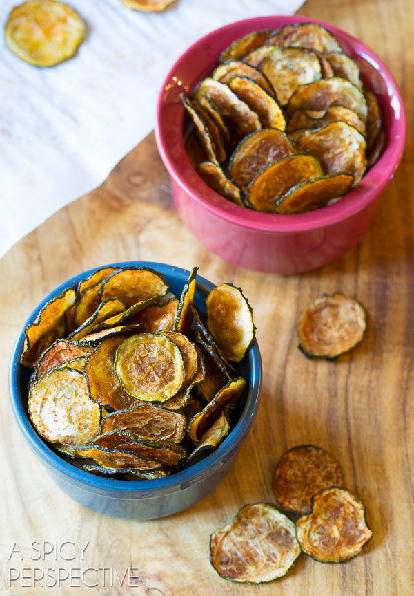 Crispy Baked Zucchini Chips A Spicy Perspective | foodiecrush.com
