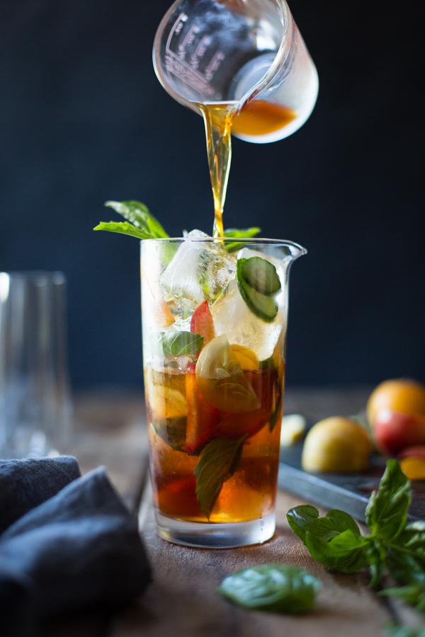 Basil Plum Pimms Cup Bojon Gourmet | foodiecrush.com