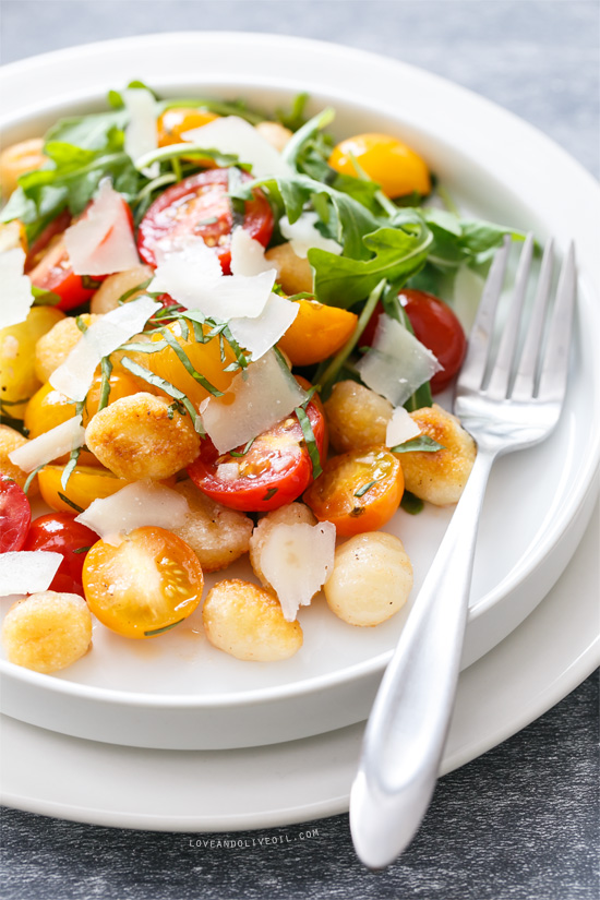 Warm Gnocchi and Heirloom Tomato Salad | Love and Olive Oil