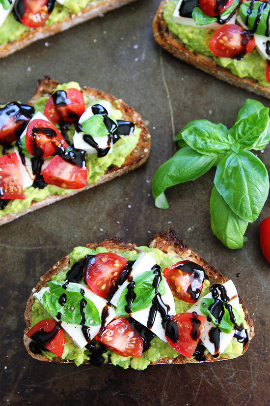 Caprese Avocado Toast from Two Peas and Their Pod | foodiecrush.com