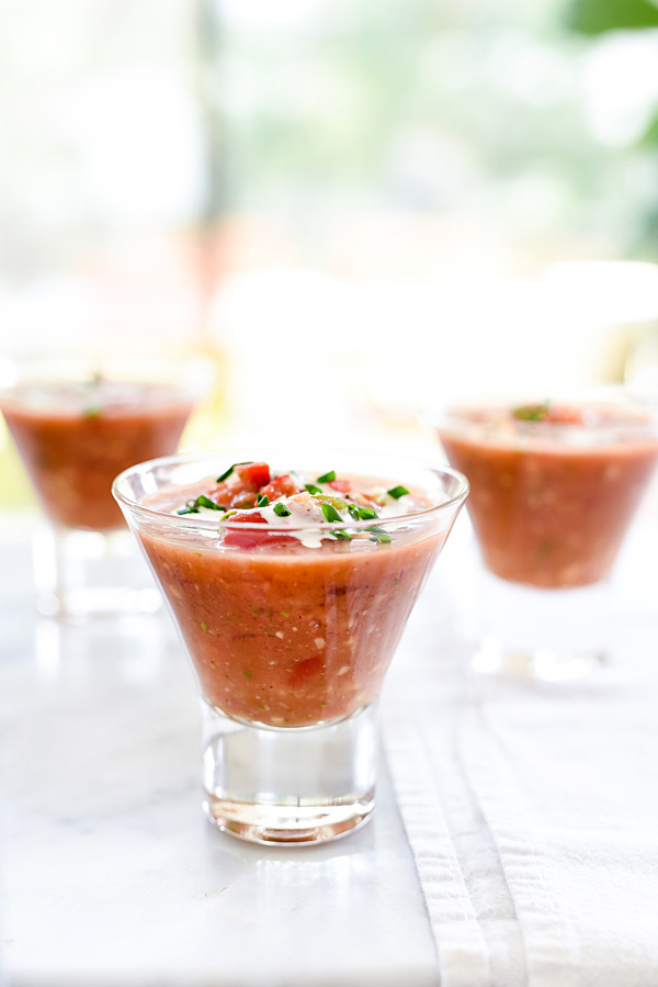 Classic Gazpacho Recipe | foodiecrush.com