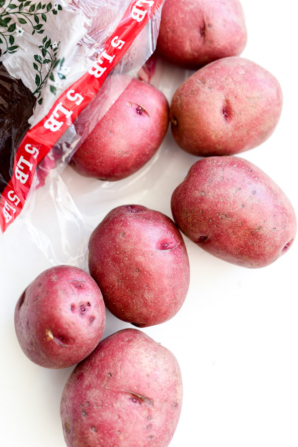 red potatoes for hot potato salad
