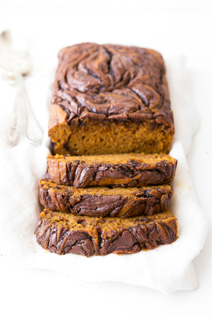 Nutella Swirled Pumpkin Bread from Broma Bakery | foodiecrush.com