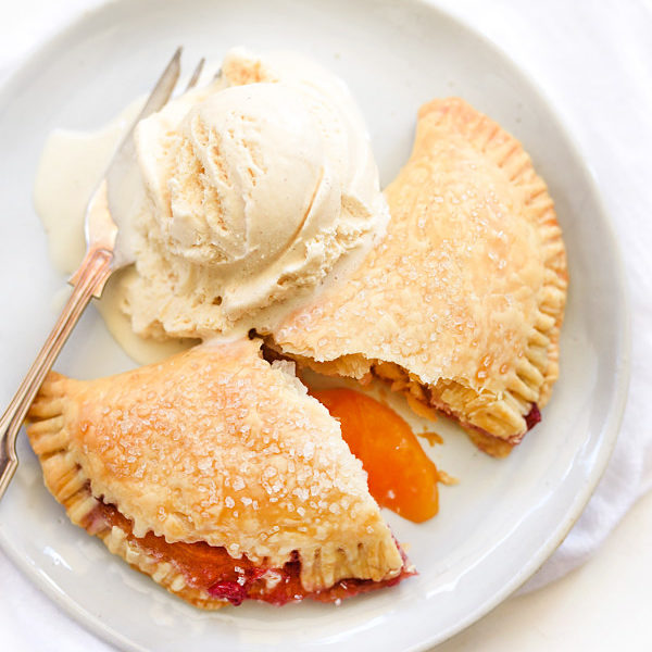 Raspberry Peach Hand Pies | foodiecrush.com