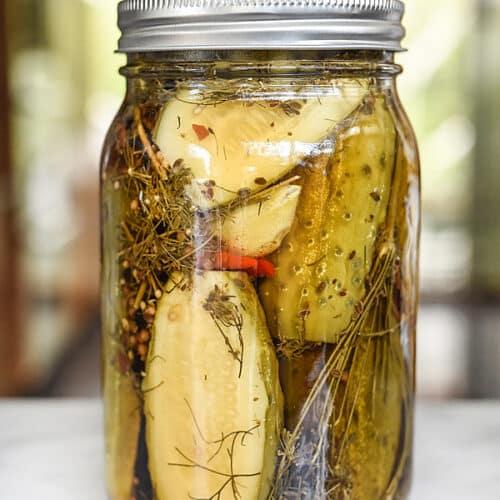 Killer Garlic Dill Spicy Pickles