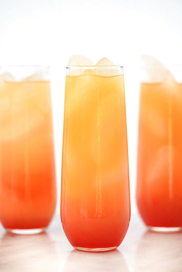 Tequila Sunrise Cocktail | foodiecrush.com #recipe #drink #cocktail #parties