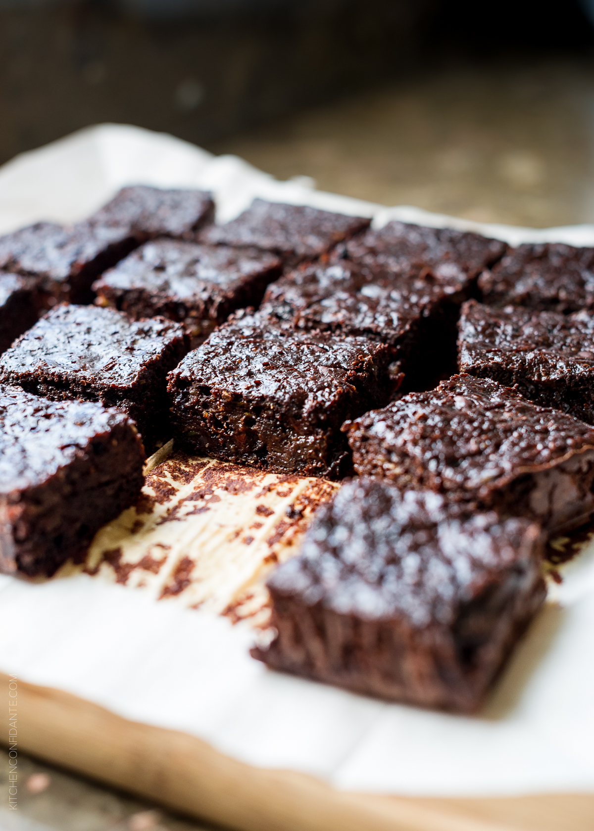 Zucchini Banana Brownies by Kitchen Confidante | foodiecrush.com