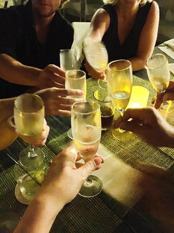 champagne at Sweetwater, Hotel del Coronado, Coronado, CA foodiecrush.com