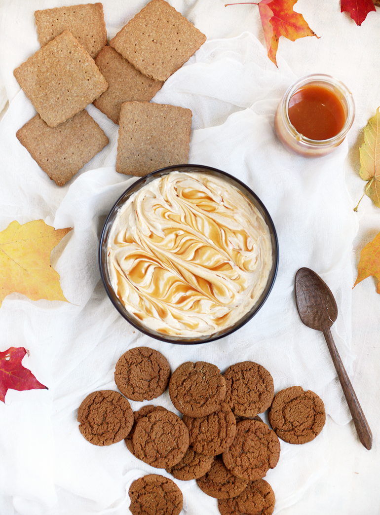 Pumpkin Dip with Salted Caramel from MerryThought | foodiecrush.com
