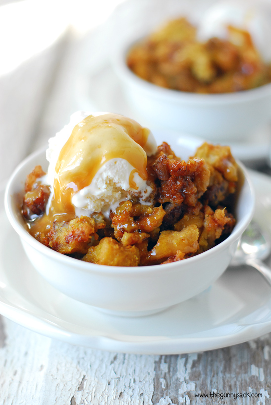 Slow Cooker Pumpkin Bread Pudding  from The Gunny Sack on foodiecrush.com