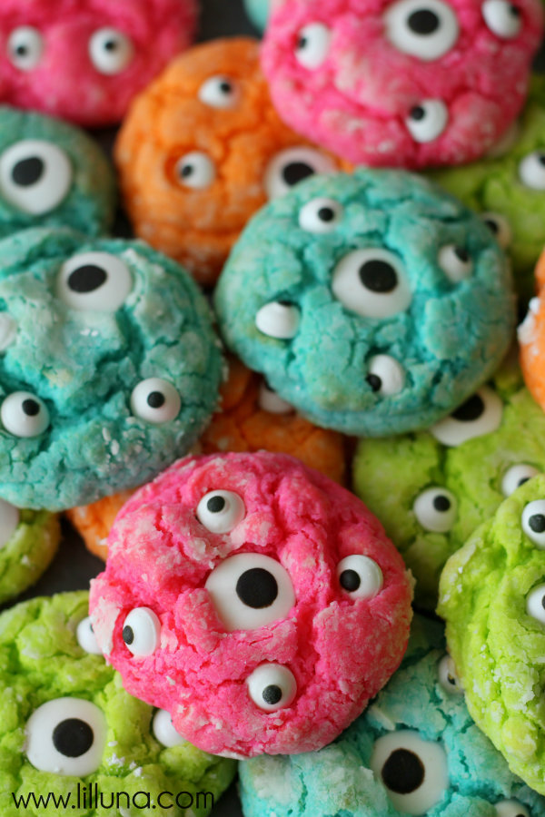 Gooey Monster Cookies from Lil Luna on foodiecrush.com