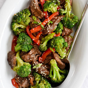 Beef with Broccoli is an easy dinner and makes a healthy family meal | foodiecrush.com