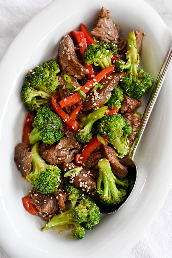 Beef with Broccoli | foodiecrush.com #stirfry #easy #weeknightmeals #healthy #recipe