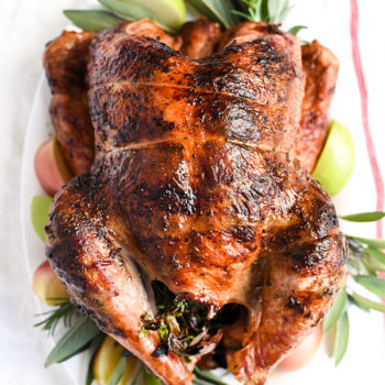 Herb Butter Rotisserie Turkey is one of the juiciest turkeys I've ever had | foodiecrush.com
