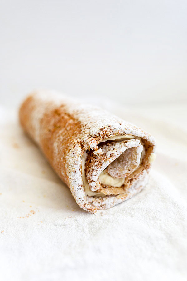 rolled up pumpkin roll