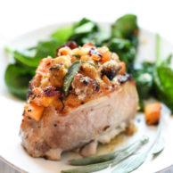Stuffed Pork Chops | foodiecrush.com