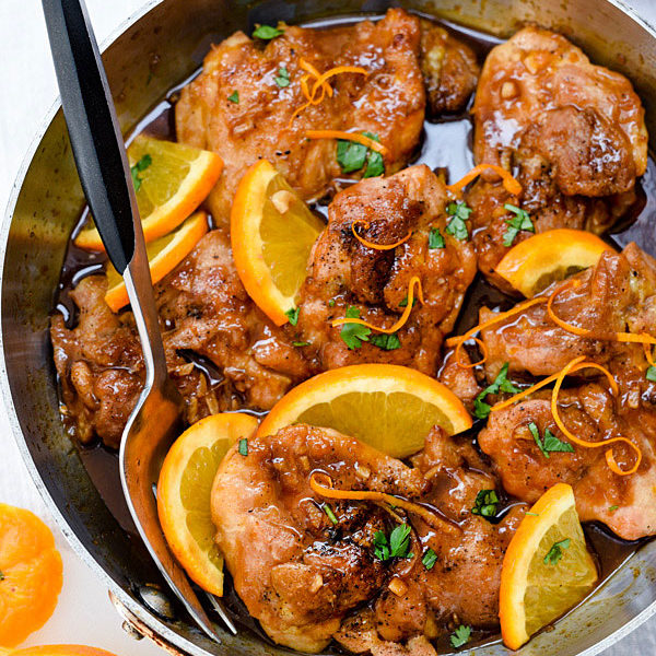 Asian Glazed Orange Chicken is an easy dinner classic that's a little bit sweet and spicy | foodiecrush.com