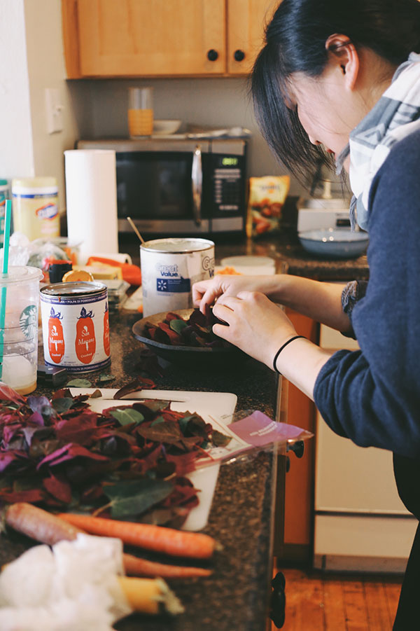 Jenny Park cooking in her kitchen