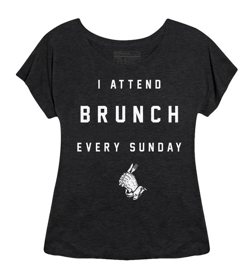 I Attend Brunch Every Sunday Tee from Pyknic $29