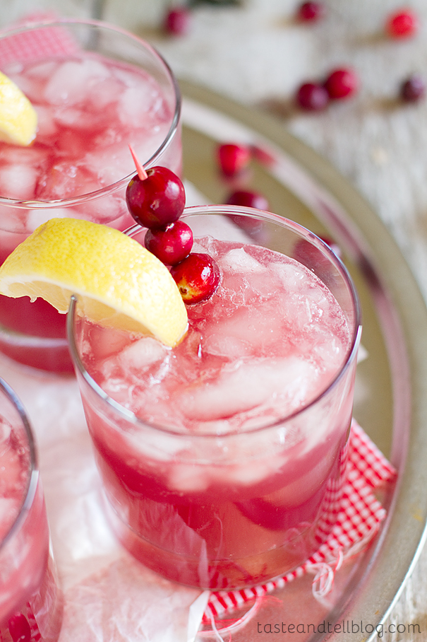Sparkling Cranberry Punch from Taste and Tell on foodiecrush.com