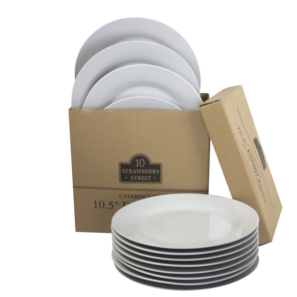 Caterering Set of 10-inch Dinner Plates, set of 12, from 10 Strawberry Street, $21