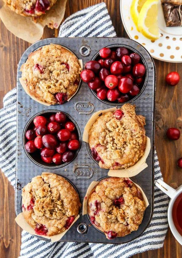 Cranberry Coffee Cake Muffins from dessertfortwo.com on foodiecrush.com