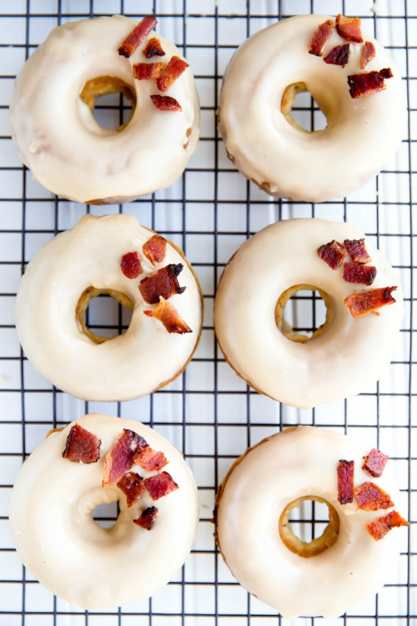 Maple Bacon Donuts from bromabakery.com on foodiecrush.com