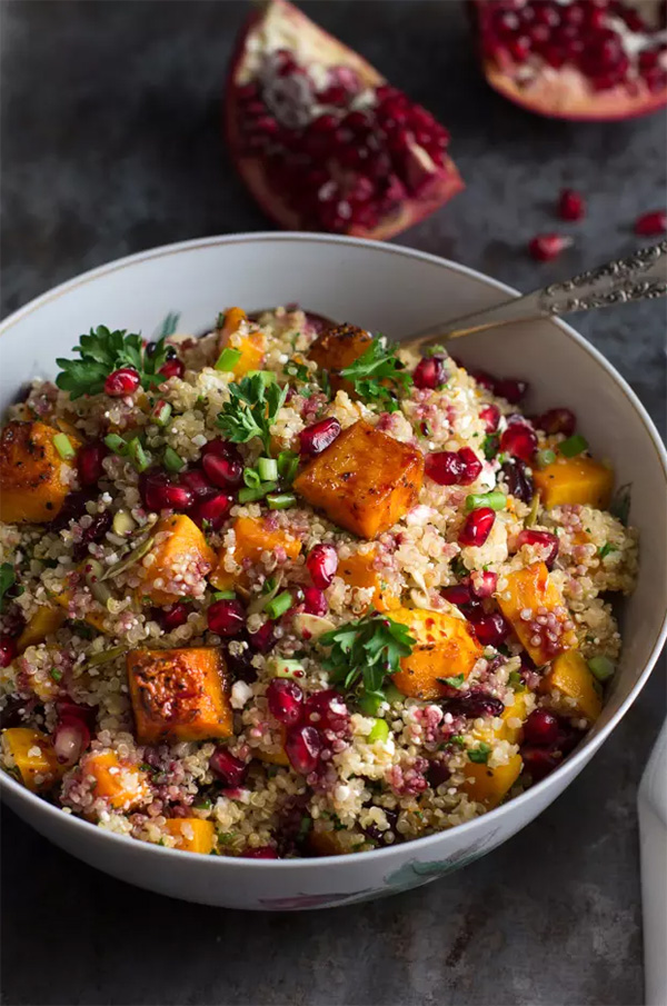 Roasted Butternut Squash Quinoa Salad by Food Fanatic on foodiecrush.com