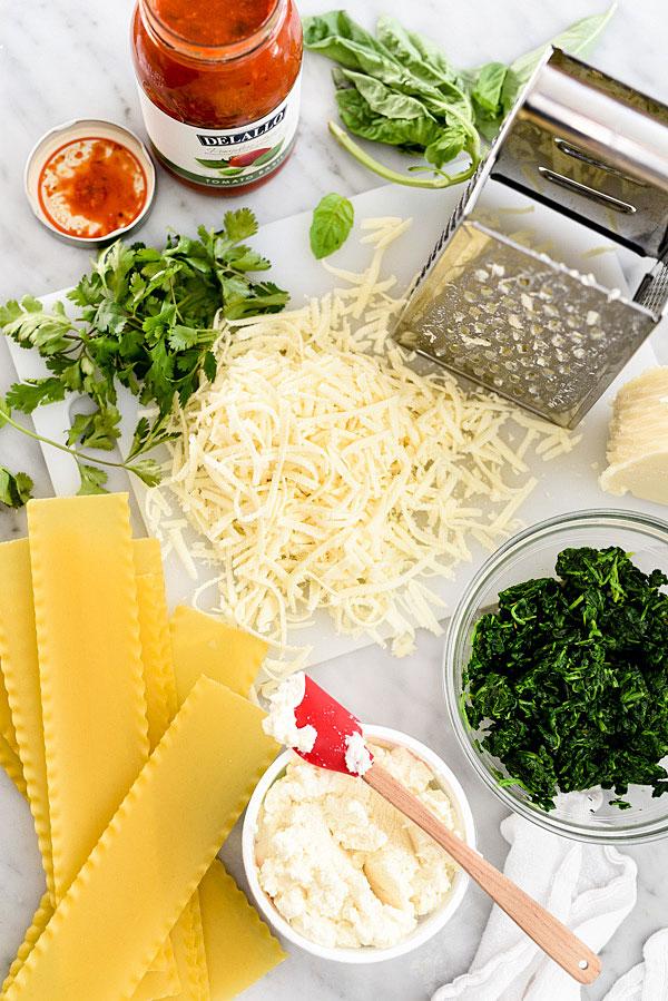 spinach lasagna rolls ingredients