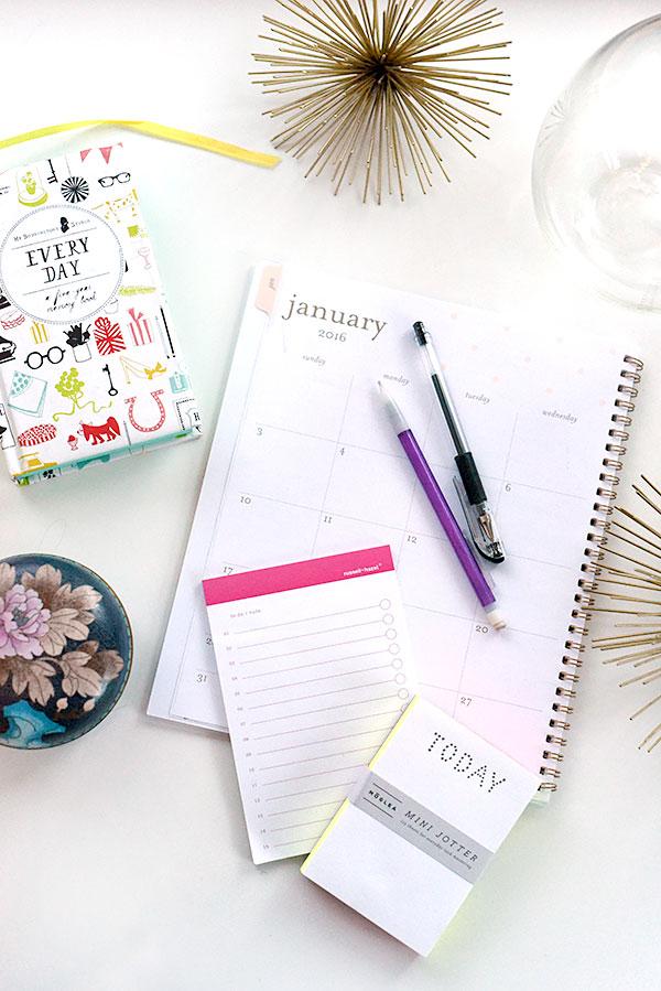 Calendars and organized inspiration on foodiecrush.com