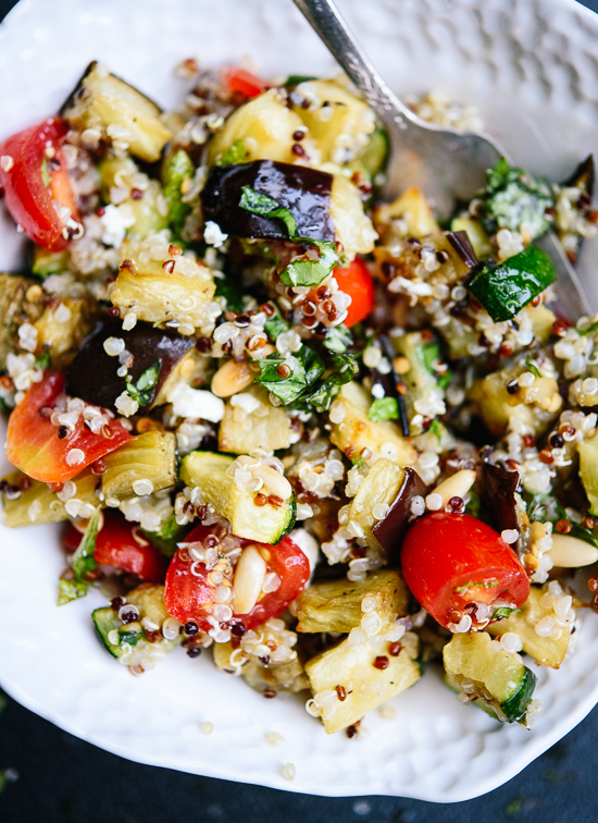 Mediterranean Quinoa Salad with Roasted Summer Vegetables from Cookie and Kate on foodiecrush.com