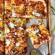 BBQ Blue Chicken Pizza | foodiecrush.com