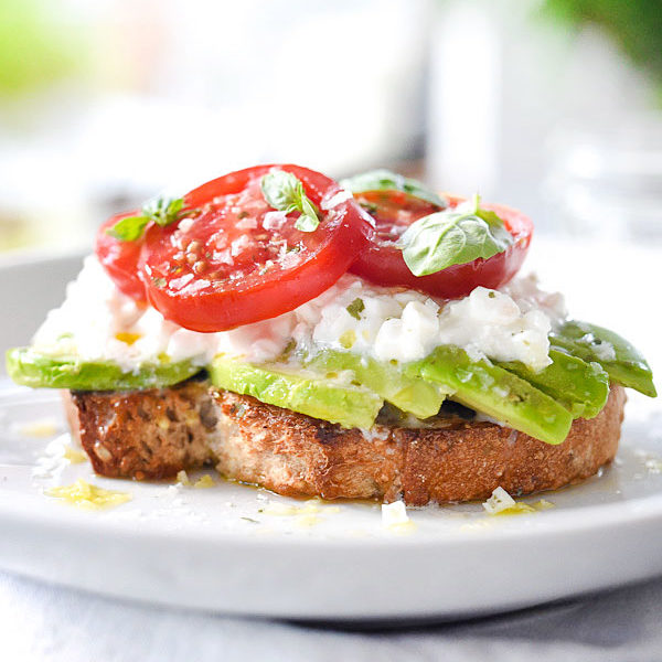Caprese Avocado Toast | foodiecrush.com