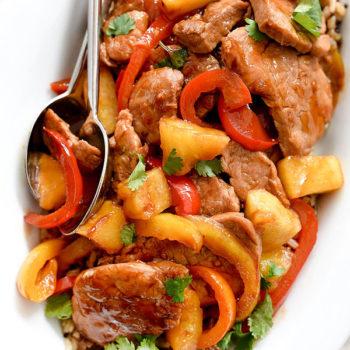 Healthier Sweet and Sour Pork | foodiecrush.com