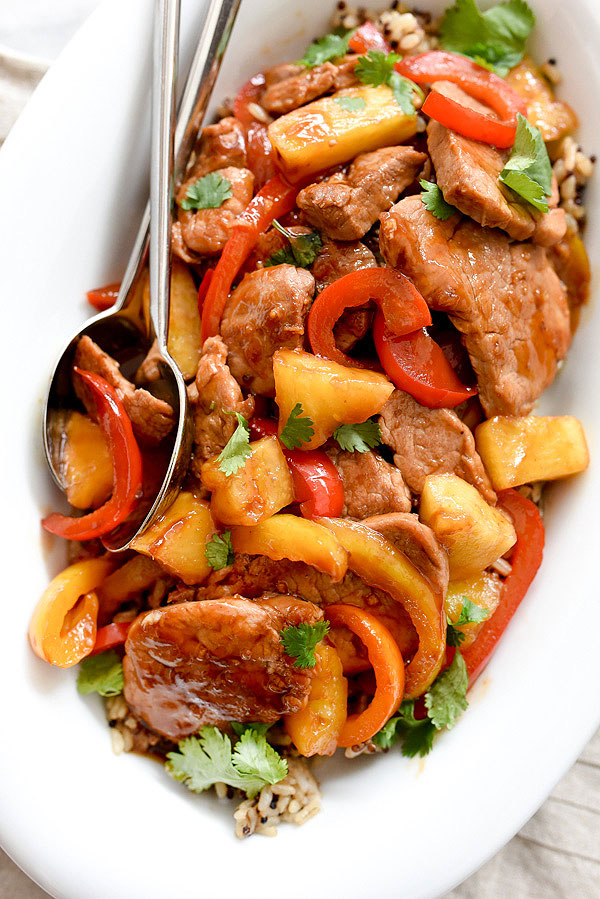 Healthier sweet and sour pork recipe foodiecrush healthier sweet and sour pork foodiecrush recipe easy chinese forumfinder Choice Image