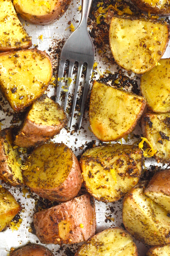 Roasted Red Potatoes with Zahatar and Lemon | Project Domestication