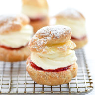 Strawberry Cheesecake Cream Puffs | foodiecrush.com