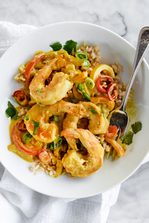 Thai Coconut Curry Shrimp | foodiecrush.com