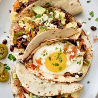 Breakfast Tacos Recipe for breakfast, brunch or dinner | foodiecrush.com