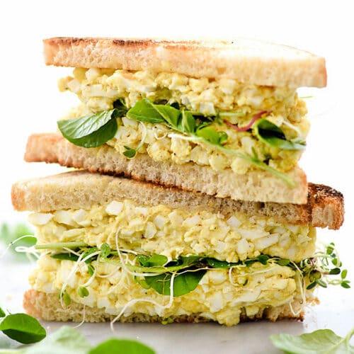 Curried Egg Salad Sandwich Recipe | foodiecrush.com