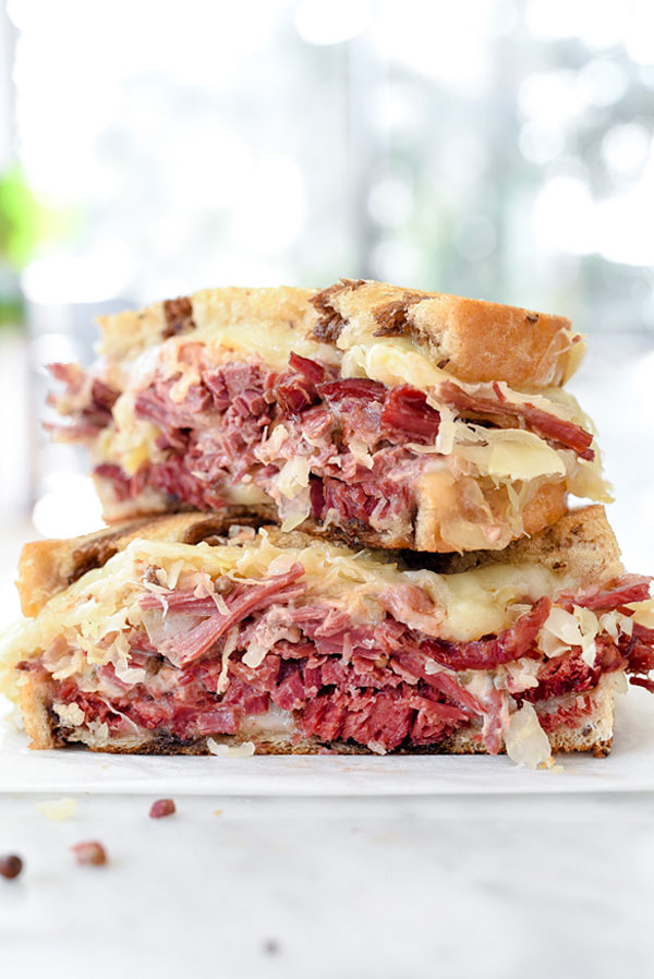 My Favorite Reuben Sandwich Recipe | foodiecrush.com #sandwich #classic #recipe #sauce #meat